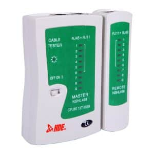 HDE RJ45 RJ11 RJ12 Cat5 Cat6 Network Cable Tester