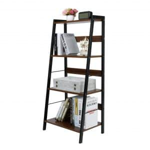 Lifewit 4-Tier Leaning Bookshelf Multi-Use Ladder Shelf Bookcase