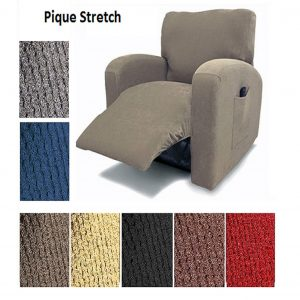 Orly's Dream Pique Chair Recliner Cover Stretch Fit Slipcover
