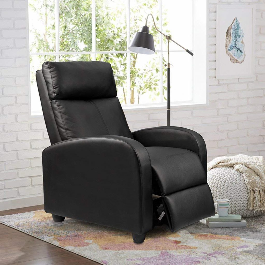 Single Recliner Padded Seat Chair by Homall