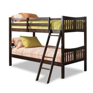 Storkcraft Caribou Solid Hardwood Twin Bunk Bed Espresso
