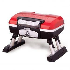 CUISINART CGG-180T Portable Petit Gourmet Propane Tabletop Gas Grill, Red