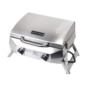 SUPERSPACE 2 Burner Stainless Steel BBQ Tabletop Propane Gas Grills