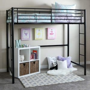 Your Zone Brand Metal Loft Twin Bed