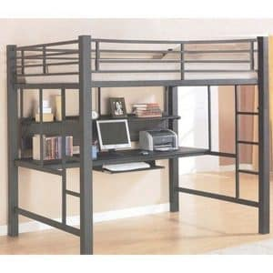 Coaster Home Loft Bed with Workstation, Model 460023