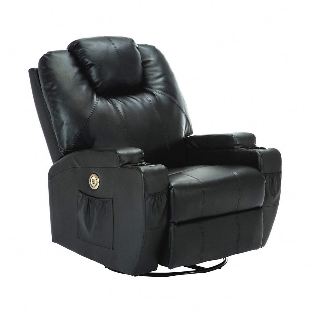 SUNCOO Massage Recliner Bonded Leather Chair