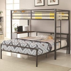 Coaster Home Twin-Over-Full Workstation Loft Bed
