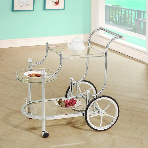 Coaster Traditional Wheeled Serving Cart