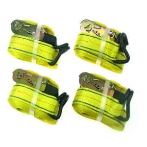HFS 4 pieces heavy duty tie down strap