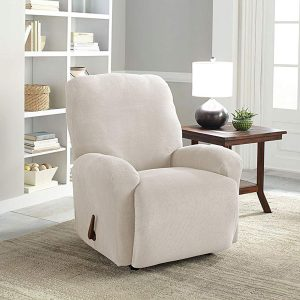 Serta 4-Piece Stretch Putty Grid Recliner Slipcover