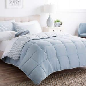 Brookside Striped Chambray Comforter Set