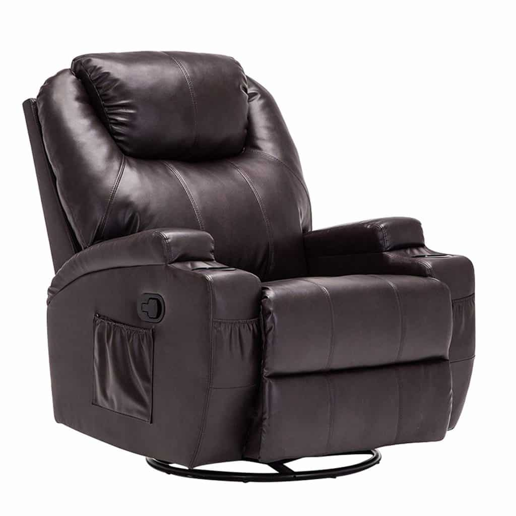 Mecor Massage Recliner Bonded Leather Chair