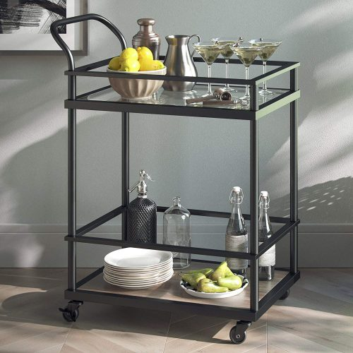 Nathan James 45001 Carter Bar and Serving Cart