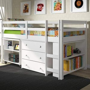 Donco Kids Brand Low Study Loft Bed, Model 760W