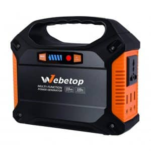 Webetop 155Wh Portable Generator With Optional Solar Panel, Wall Socket & Car Port Charging