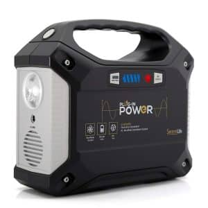 SereneLife Portable Rechargeable Solar Generator, 155Watt Power