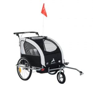 Aosom Elite II 3-in-1 Double Child Bike Trailer
