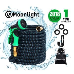 Moonlight 2018 Model (100ft) Expandable Hose with Double-Latex Core 9-Function Hose Nozzle