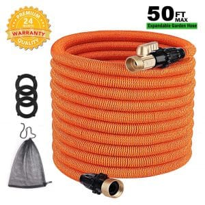 TACKLIFE Classic Essential 50ft Expandable Garden Hose