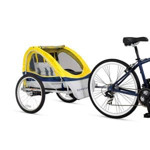 Schwinn Echo Kids Double Tow Behind Bike Trailer