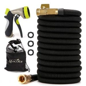 lifecolor 100FT Expanding Garden Hose with Double Latex Core