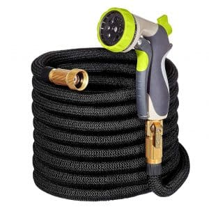 Hospaip 50-feet Garden Hose - ALL NEW Double Latex Core, Expandable Water Hose 3/4in.