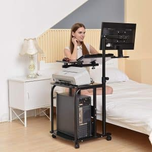 e-Joy Mobile and Compact Computer Cart, Black