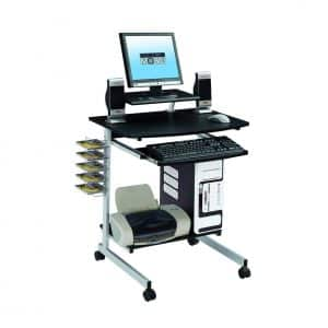 Techni Mobili Compact and Mobile Computer Workstation Desk