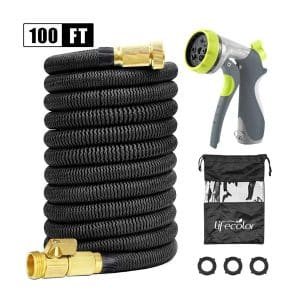 lifecolor Expandable Hose Expanding 100ft With Solid Brass Connector