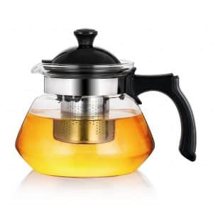 OGKitchen Glass Teapot w/Infuser – Stovetop Safe Borosilicate Tea Pot
