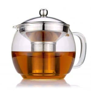 Infuser glass teapot for Loose Leaf and Blooming and TeaPot from Cozyna