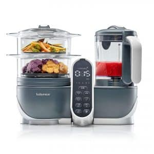 Babymoov Duo Meal Station | 5 in 1 Food Processor with Steam Cooker