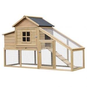 Pawhut Wooden Backyard Chicken Coop