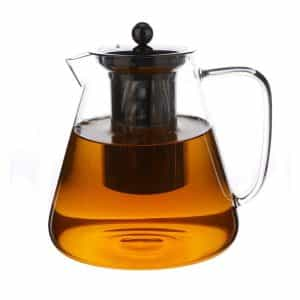Large Glass 1.5Liter/50ozLoose Leaf TeaPot from Purefold