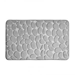 mDesign Pebble Accent Rug Memory Foam Bath Mat for Bathroom