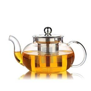 Hiware Teapot with Lid & Stainless Steel Infuser & 27 Ounce Loose Leaf Teapot