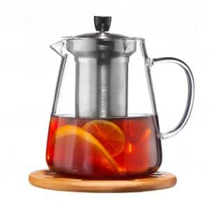 Glass Teapot for Loose Leaf and Blooming and TeaPot from Cusinium