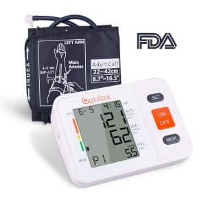 COULAX Upper Arm Digital Blood Pressure Monitor