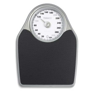 Thinner Scales Extra-Large Dial Analog Bathroom Scale