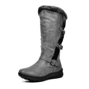 DREAM PAIRS Zipper Closure Women's Winter High Boots