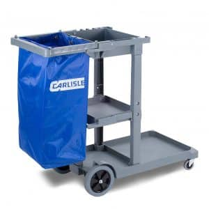 Carlisle JC1945L23 Polyethylene Long Platform Janitorial Cart