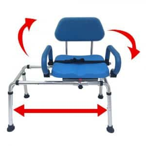 Carousel Transfer Bench Premium padded Bath and Shower Chair by Platinum Health