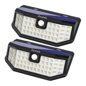 Aootek New Upgraded 48 LED Solar Motion Light