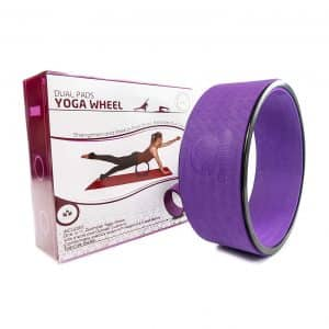 Stretching Yoga Wheel - Supports Warm Ups, Poses, Backbends