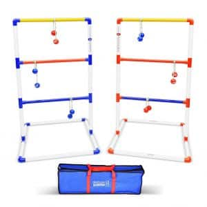 GoSports LT-01 Ladder Toss Game Set with Score Trackers six Bolo Balls