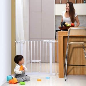 Cumbor Auto Close Baby Gate, 4 Wall Cups & 2 Extend Included