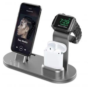 OLEBR Charging Docks Stand for iWatch, AirPods