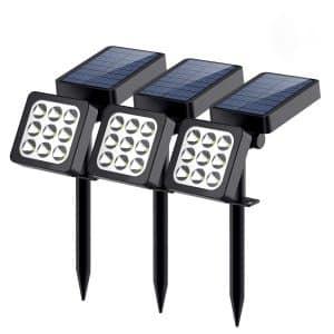 Solar Lights Outdoor, 9-LED Solar Spotlights