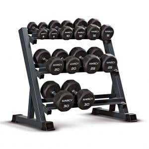 Marcy 3-Tier Dumbbell Rack Multilevel Organizer