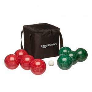 AmazonBasics Bocce Ball Set w/ Soft Carry Case